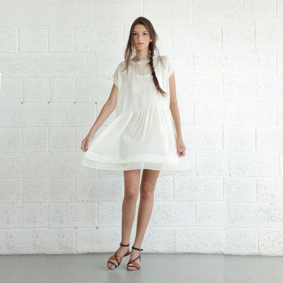 Ivory Dressruffle Dress White Tail Dressenjoy By Naftul 120 00