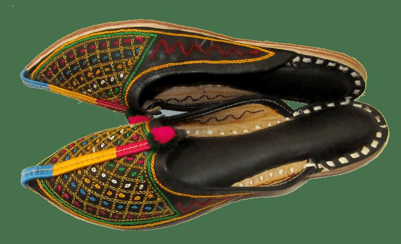 Indian Handmade Leather Mules Rajasthani Mojari Traditional Shoes Mojari