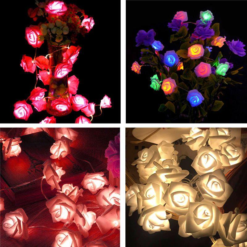 $264 - 10 Led Rose Flower Fairy Wedding Garden Party Christmas Xmas
