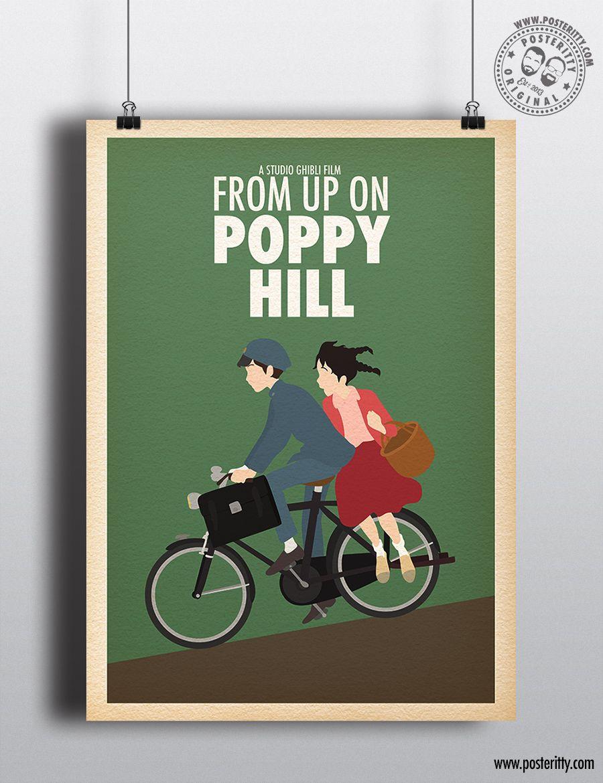 Minimalist Studio Ghibli Movie Poster Minimal Posteritty Film Fan Art POM POKO