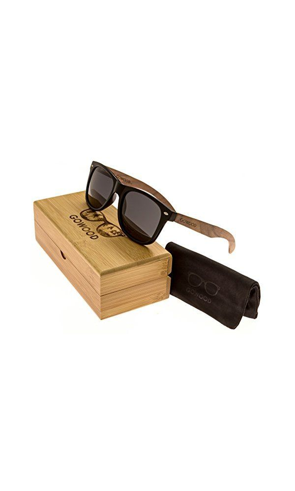 5c865a3c52 47  - Walnut Wood Wayfarer Sunglasses For Men   Women with Polarized Lenses  GOWOOD