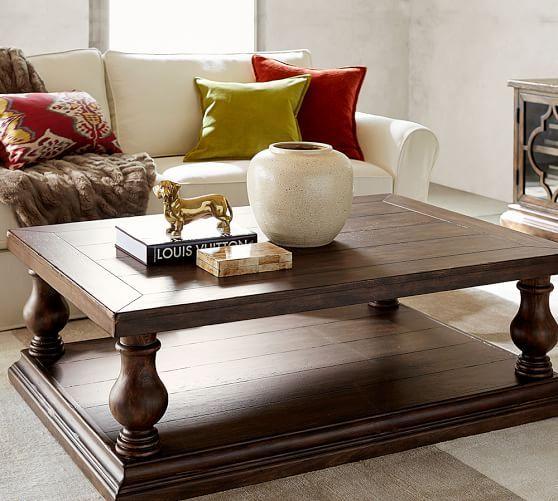 Lorraine Coffee Table Pottery Barn indoor furniture