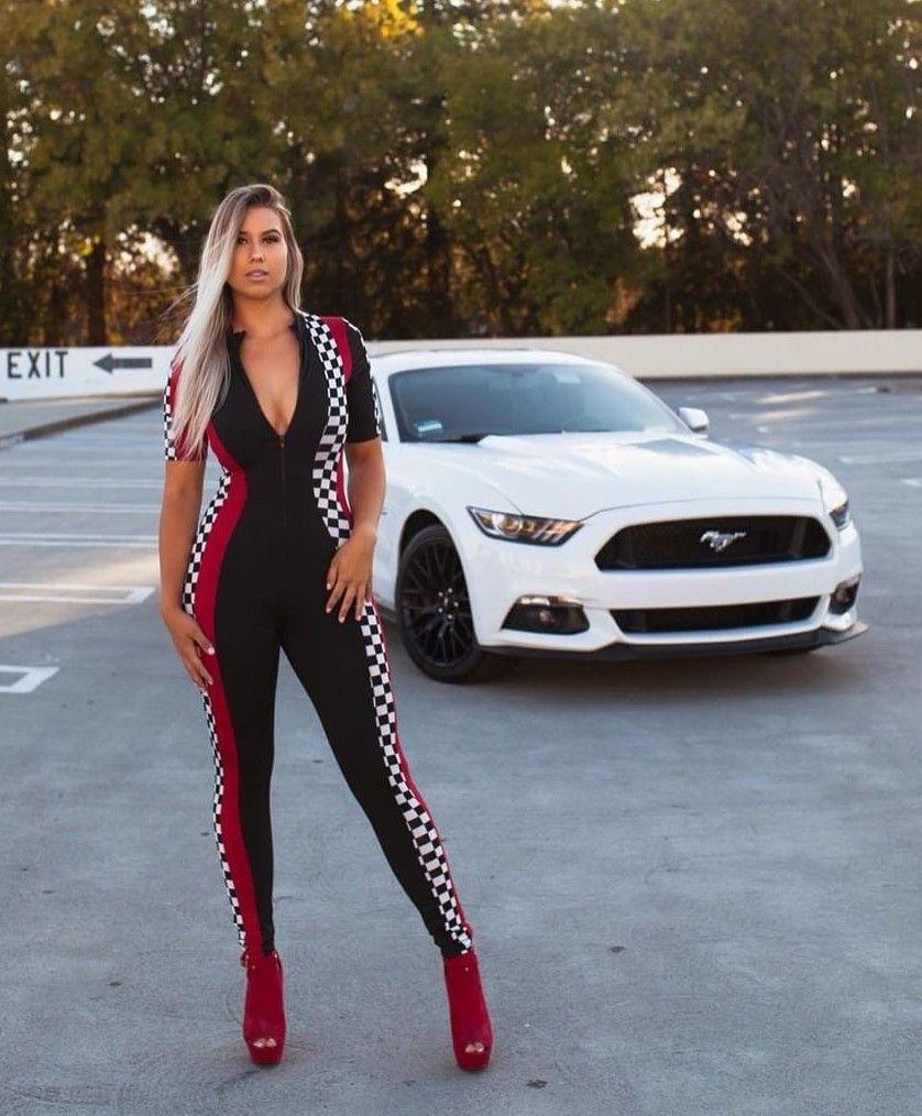 Mustang Girl Car Girls Car Girl