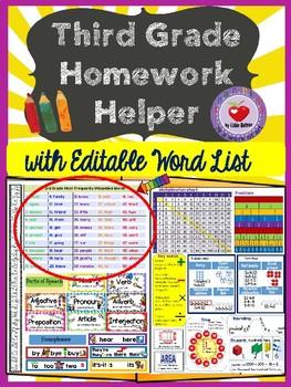 3rd grade homework helper