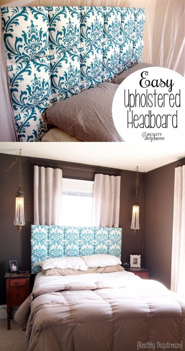 31 fabulous diy headboard ideas for your bedroom pinterest diy diy headboard ideas easy upholstered headboard tutorial easy and cheap do it yourself headboards solutioingenieria Choice Image