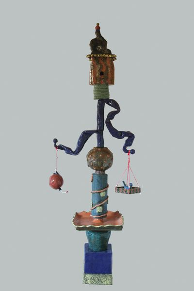 """garden totems - Google Search """"Yessy"""" by Becky Christenson. Oh, I guess that's the website! This piece is titled """"For the Birds"""" :)"""