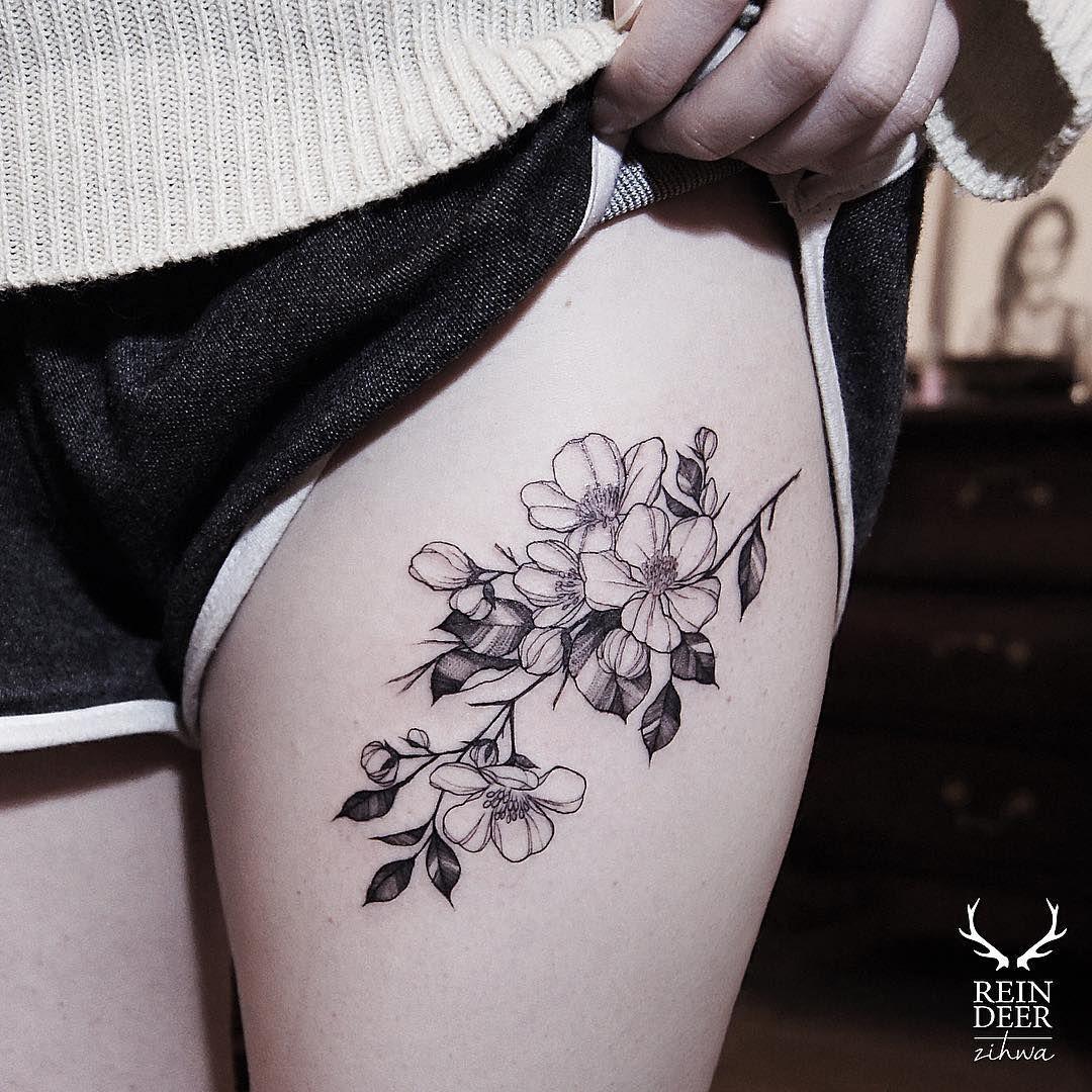 Thigh Tattoo Flowers Flower Thigh Tattoos Tattoos For Women Thigh Tattoo