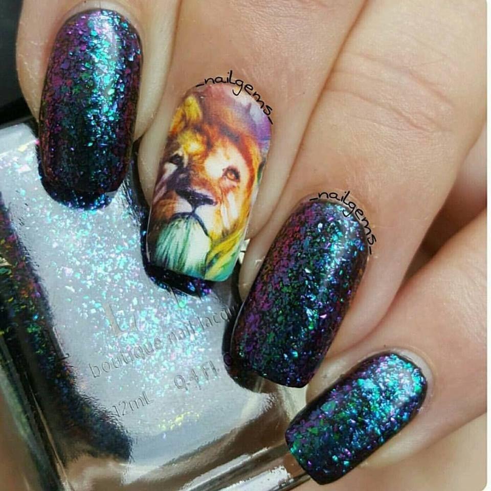 Tiger and lion nail wraps | Nail wraps