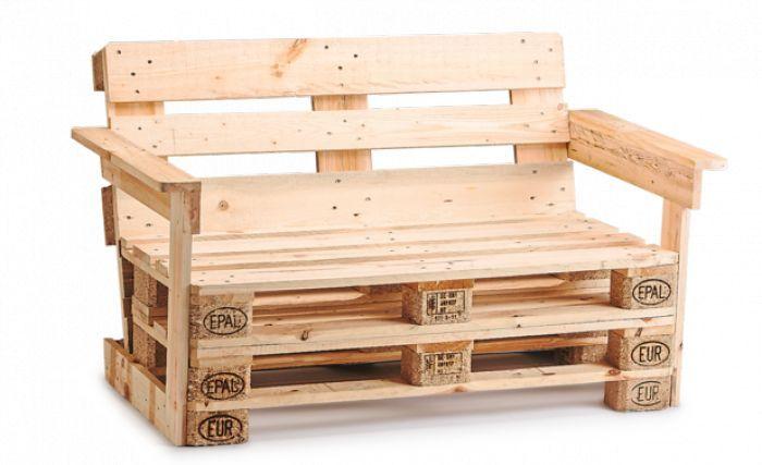 Gartenmöbel aus Europaletten selber bauen mit Bauanleitung für