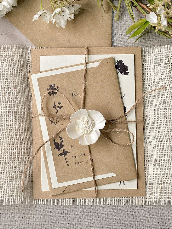 Hey, I found this really awesome Etsy listing at https://www.etsy.com/listing/186725000/rustic-wedding-invitation-recycling