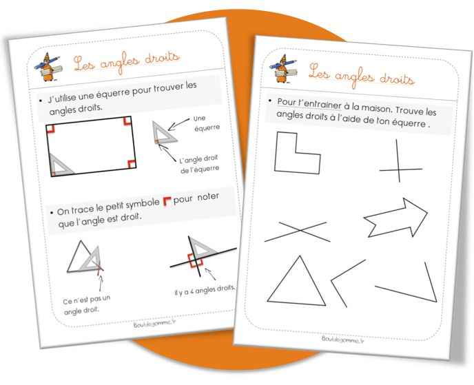 Maths Lecons Angles Droits Et Polygones Particuliers Angle Droit Geometrie Ce1 Angles