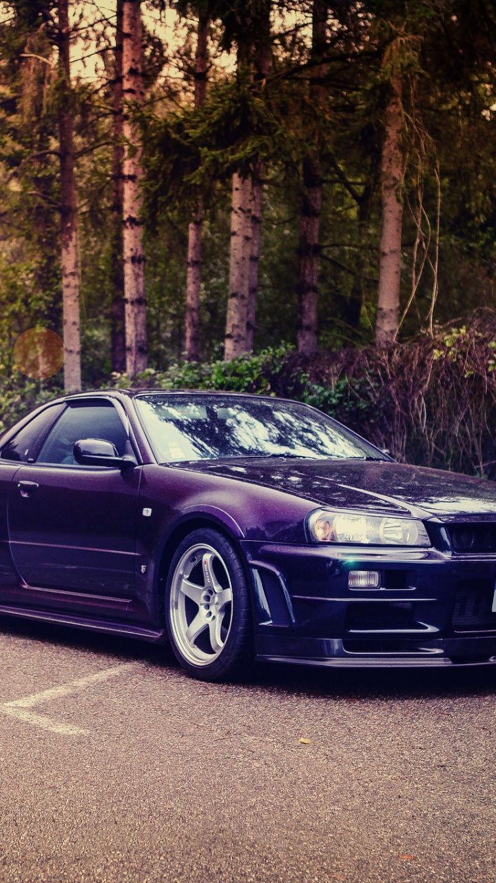 720x1280 wallpaper nissan skyline gt r r34. Black Bedroom Furniture Sets. Home Design Ideas
