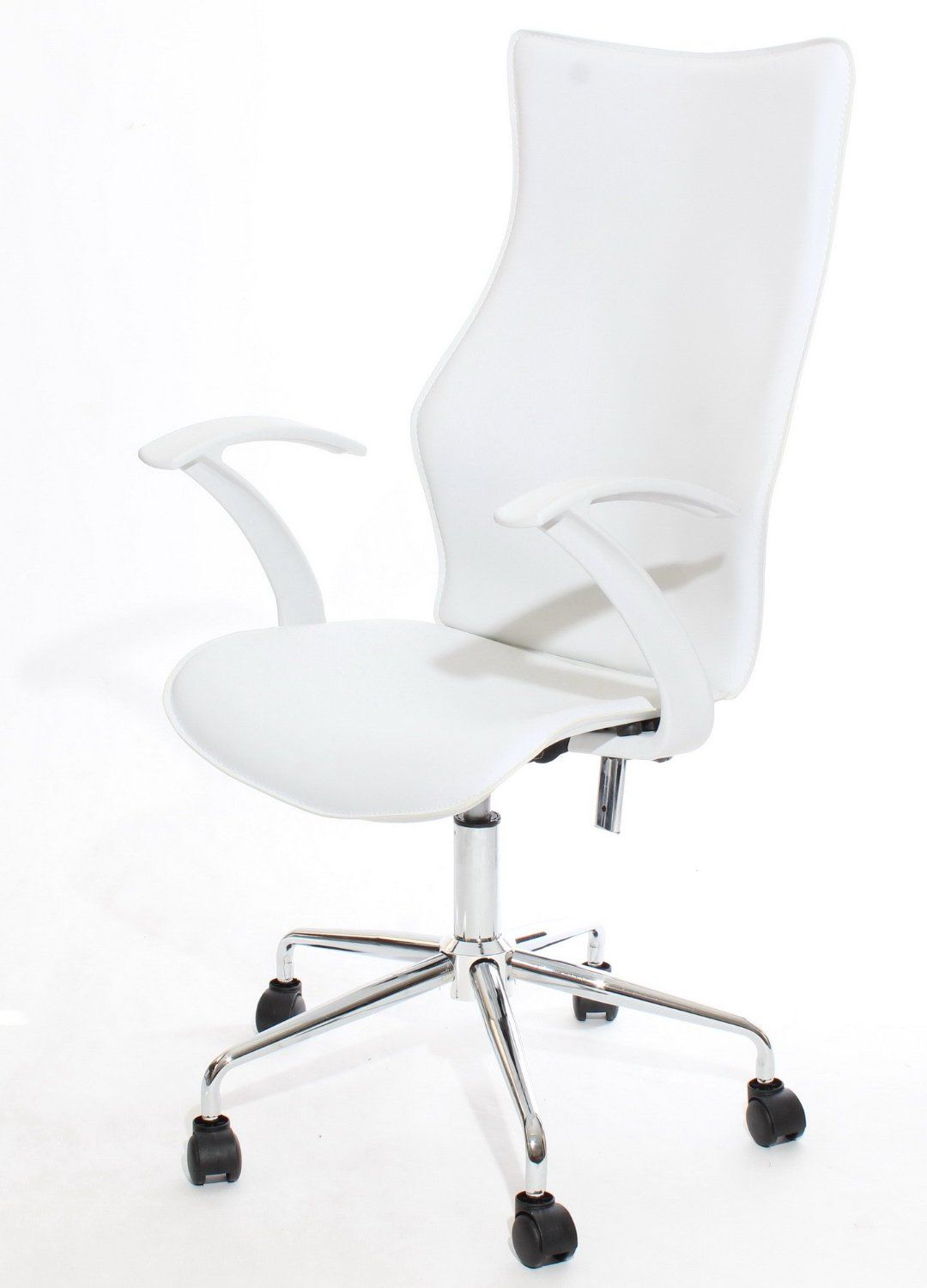 Charles Jacobs 2016 Designer Office Chair in White with Chrome Base ...