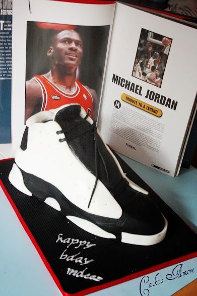 bd6b0685e3c7 Michael Jordan shoes cake