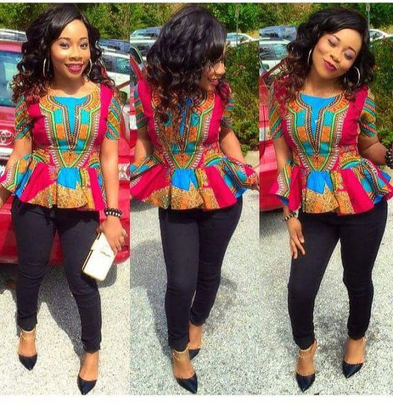 Beautiful Ankara Peplum Top Styles And Designs