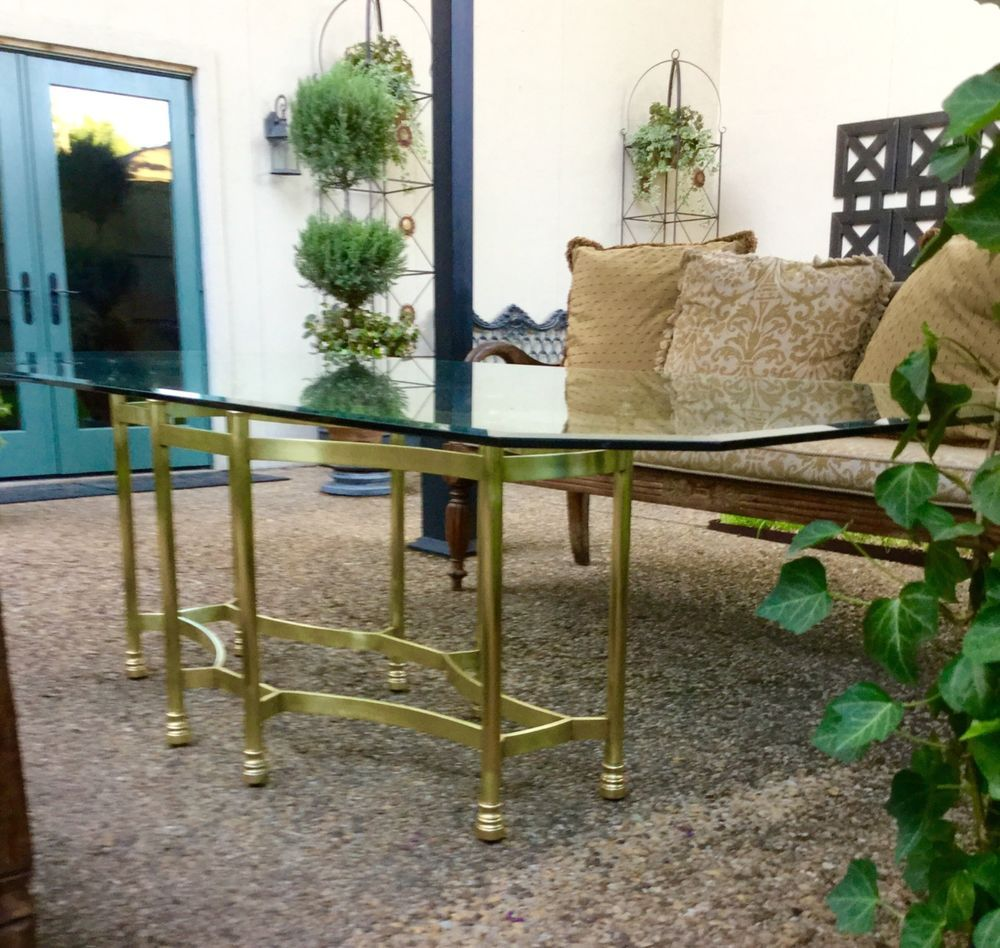Mastercraft brass dining table - 70 S Mid Century Brass Mastercraft Dining Table Hollywood Regency Hollywoodregency