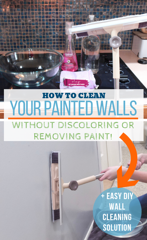 How To Clean Walls Without Removing Or Discoloring Paint Cleaning Walls Cleaning Painted Walls House Cleaning Tips