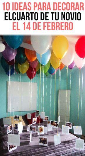 10 ideas para decorar el cuarto de tu novio el 14 de for Cuartos decorados feliz cumpleanos