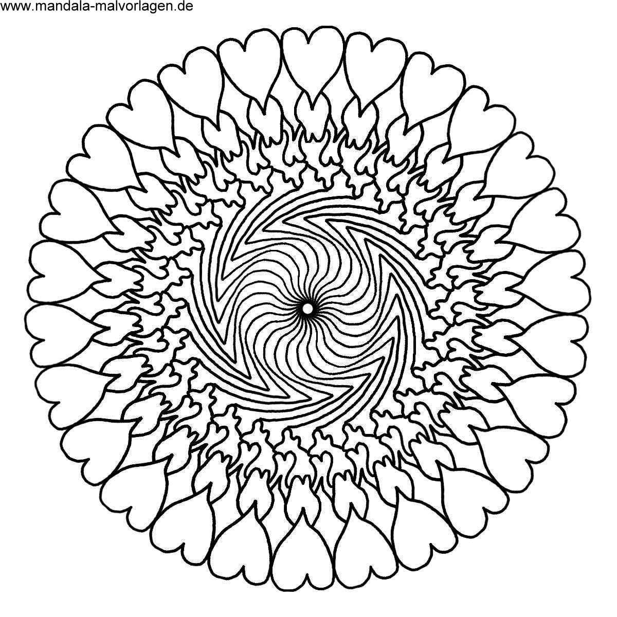 Malvorlagen Mandala Gratis Blatt Muster Mandala