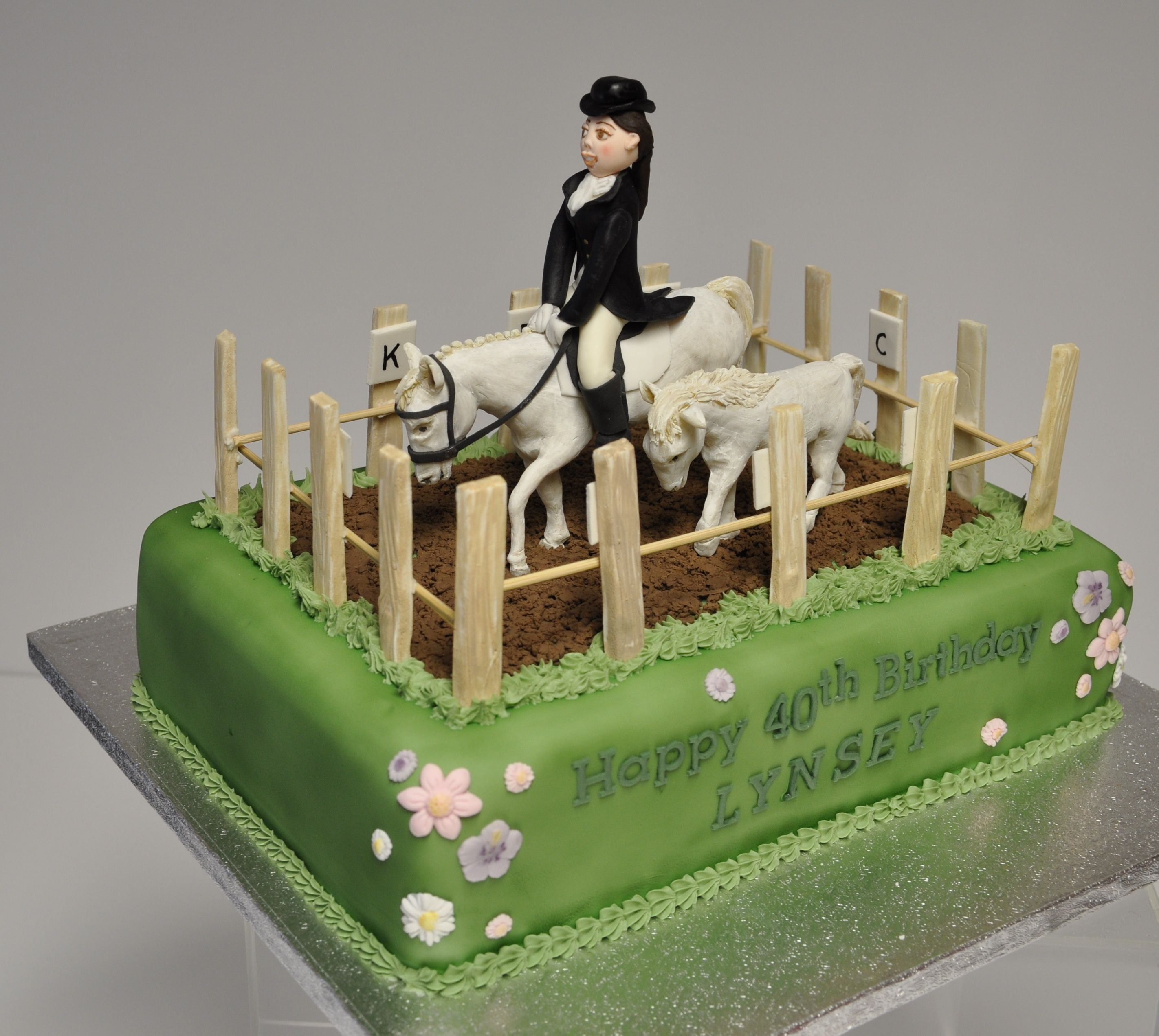Horse Themed Birthday Cake With Edible Modelling Chocolate Horses - Horse themed birthday cakes