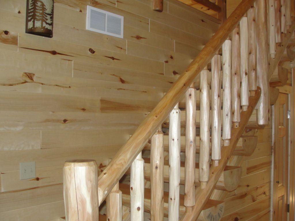 Best Cedar Railing And Pine Log Stairway Stairs Pinterest 400 x 300