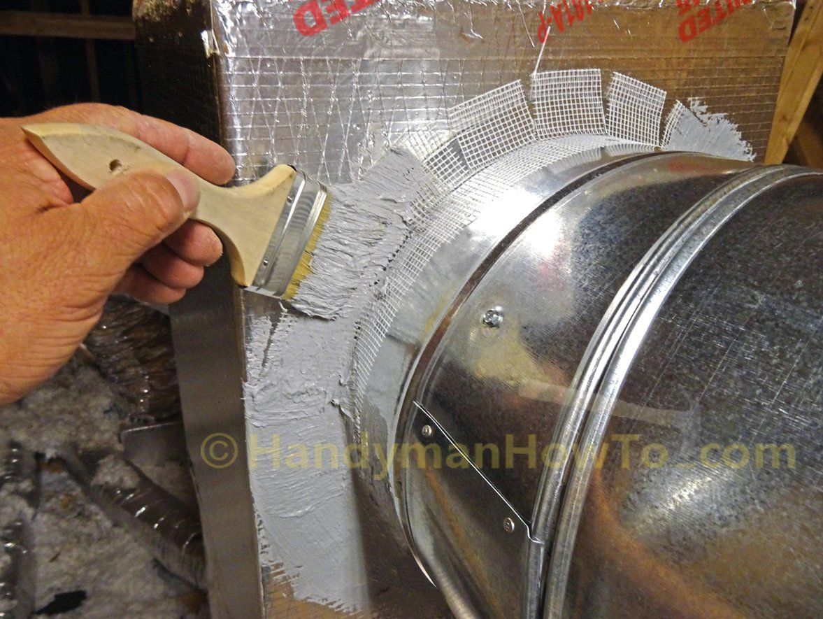 How To Seal Sheet Metal Duct With Mastic Duct Work Hvac Ductwork Hvac Duct