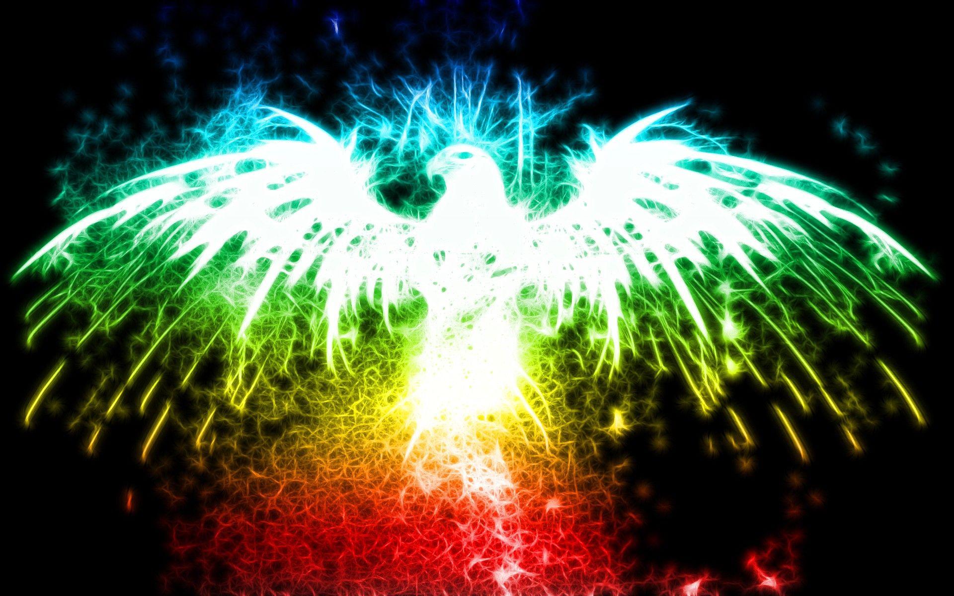 Phoenix Abstract Multicolor Phoenix Glow New HD