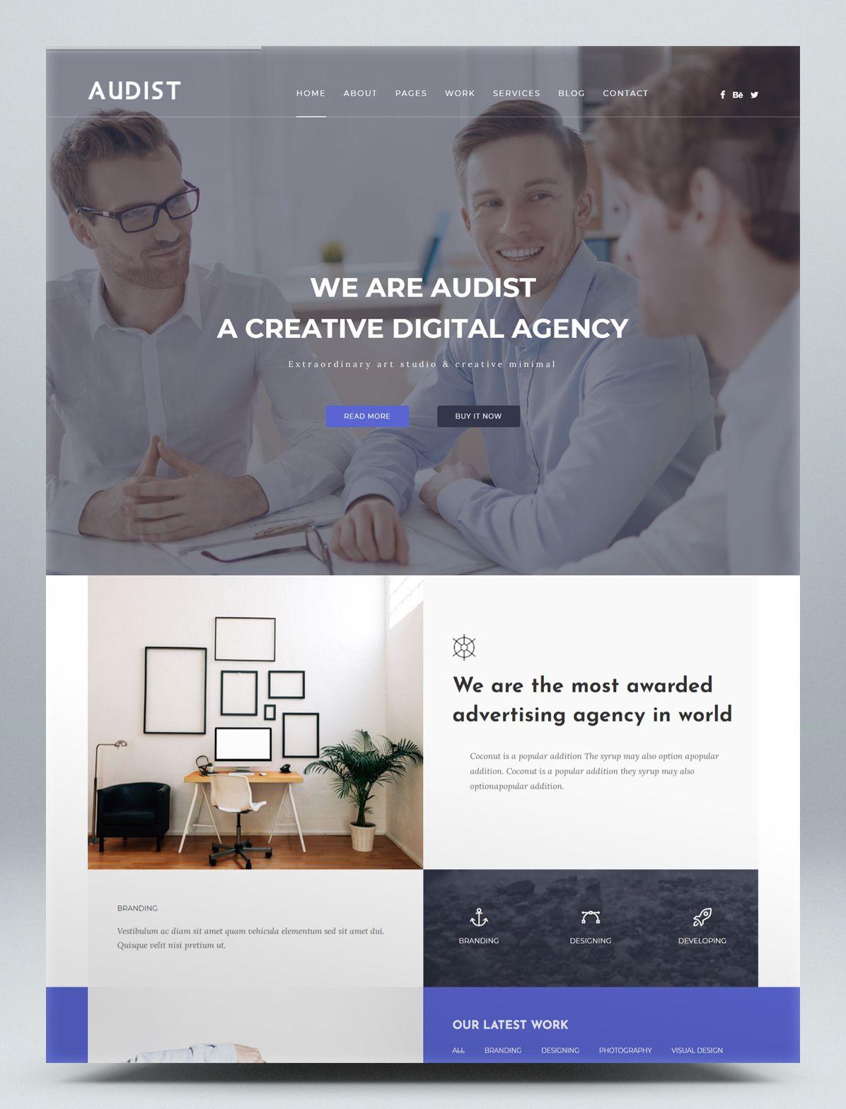 Modern Portfolio HTML5 Website Template in 2020