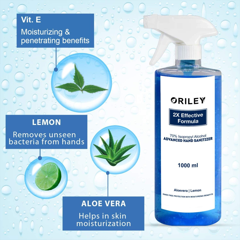 ORILEY Instant Hand Sanitizer 70 Isopropyl Alcohol Spray