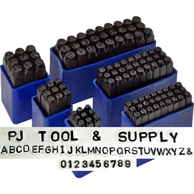 Pj tool jewelry deluxe number and alphabet letters stamps for Metal letter stamps for jewelry
