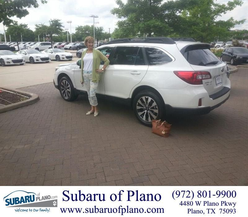 Congratulations To Barbara Louisell On Your Subaru Outback Purchase From Lou Colvin At Subaru Of Plano Newcar Happy Anniversary Subaru New Cars