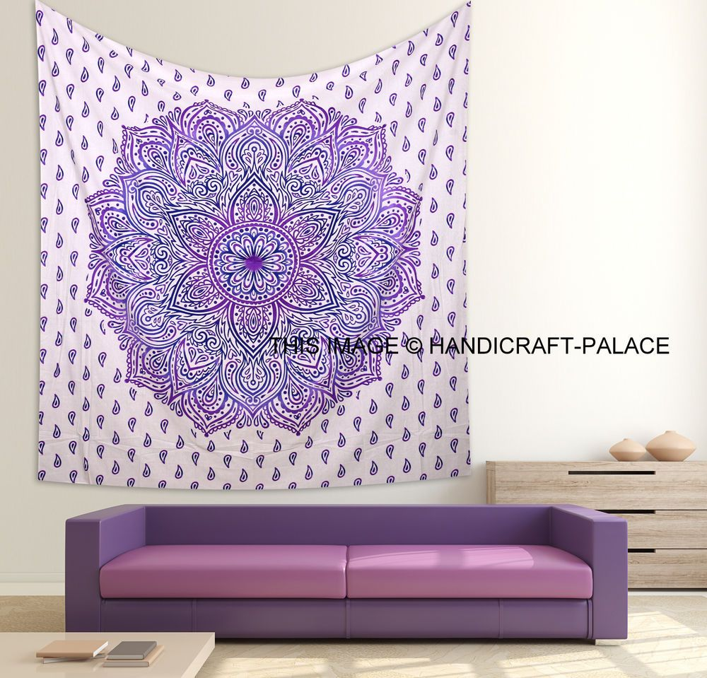 Indische Bettwäsche Mandala Tapestry Indian Wall Hanging Bohemian Hippie Twin