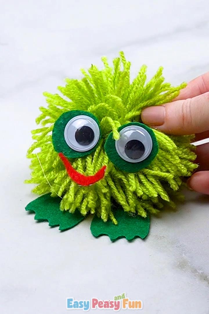 Photo of Pom Pom Frog Craft for Kids – Pom Pom Crafts