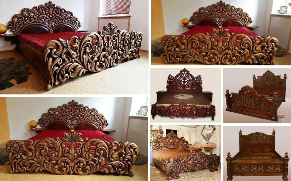 Unique Handmade Wooden Bed Frame Decor