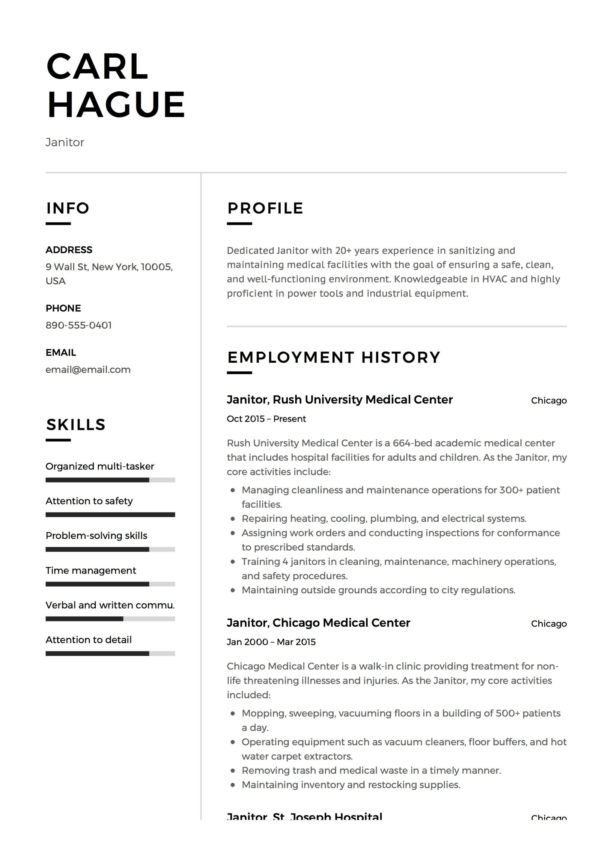 Janitor Resume Sample Louiesportsmouth Com Job Resume Samples Janitor Job Description