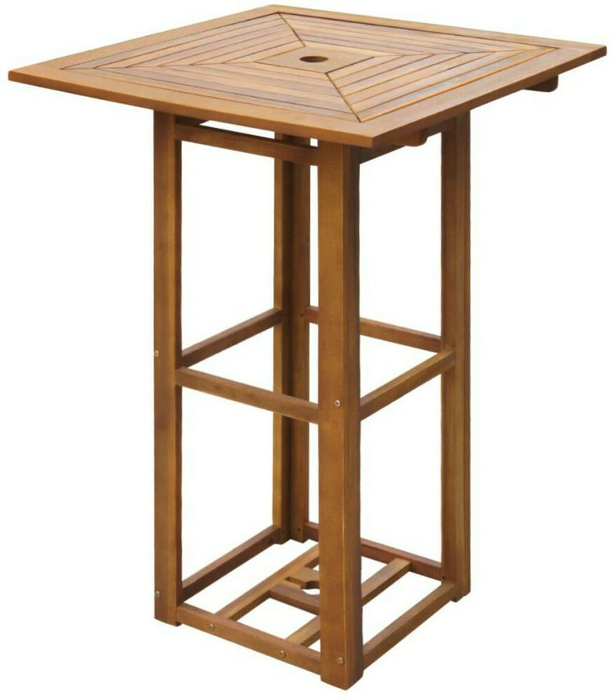 Patio Bar Table Outdoor Wood High Kitchen Dining Pub Tall Garden Pool Furniture Homefurnitures Outdoor Bar Table Patio Bar Table Wooden Bar Table
