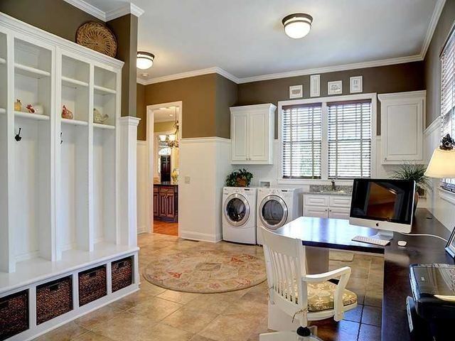 Multi Purpose Room Mud Room Laundry Computer Craft Entry To Storage Like This For The Endless Functionality Mudroom Laundry Room Room Home