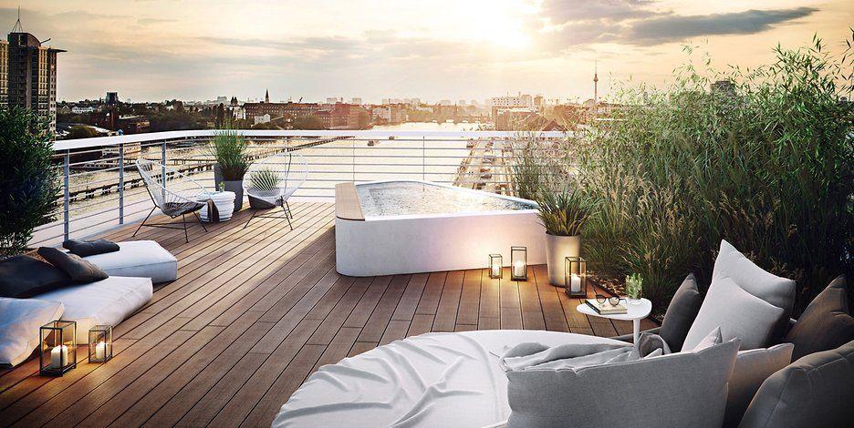 Luxuswohnungen Berlin penthouse projekt wave luxus wohnungen mit spektakulärer aussicht