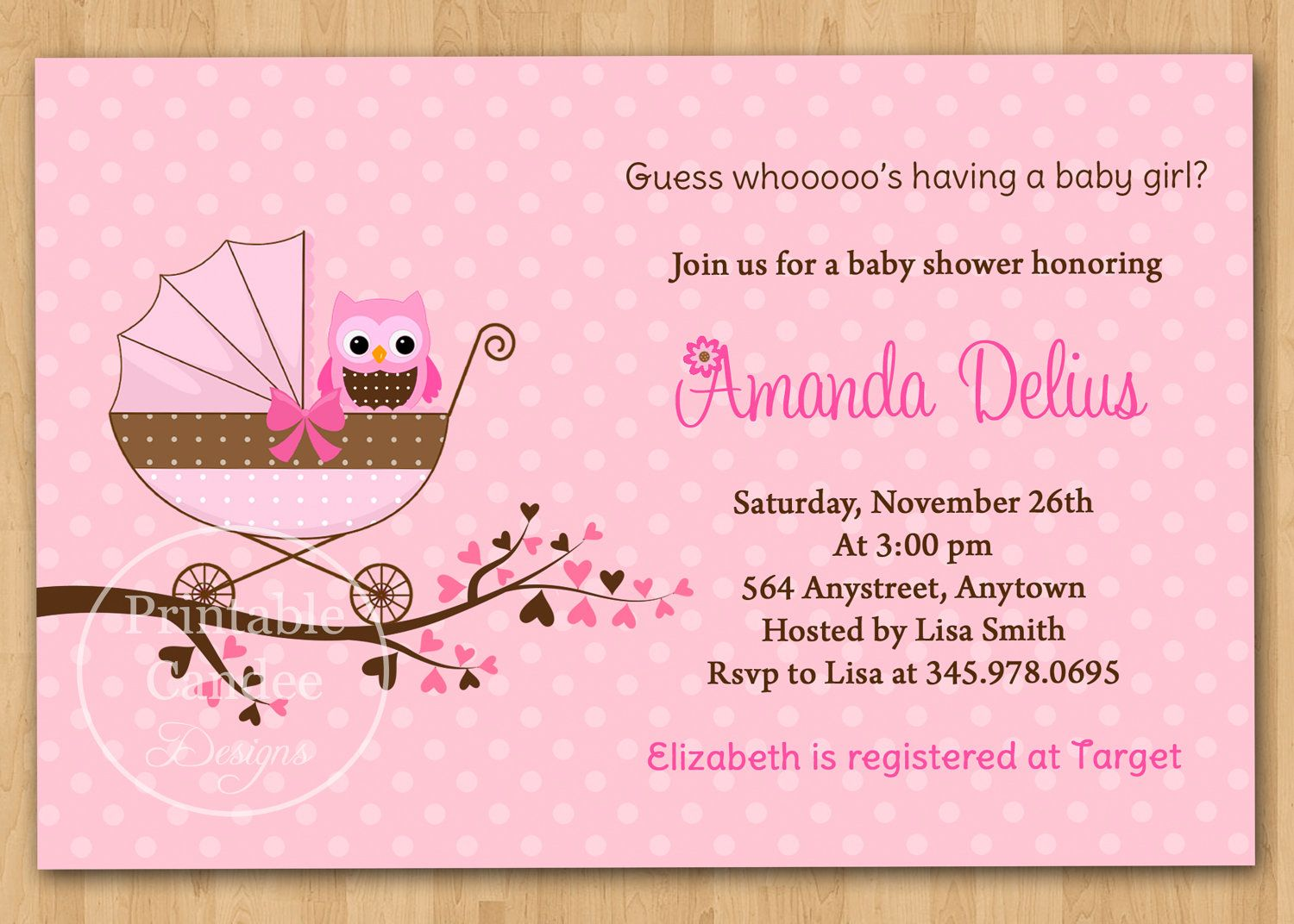 Awesome baby shower invitation wording examples girl ...