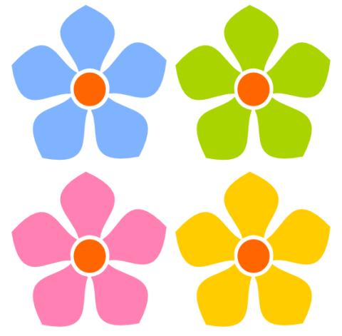 simple flower clipart