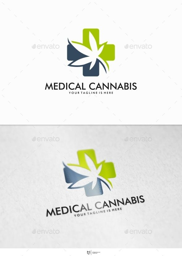 Medical Cannabis Logo Design Template