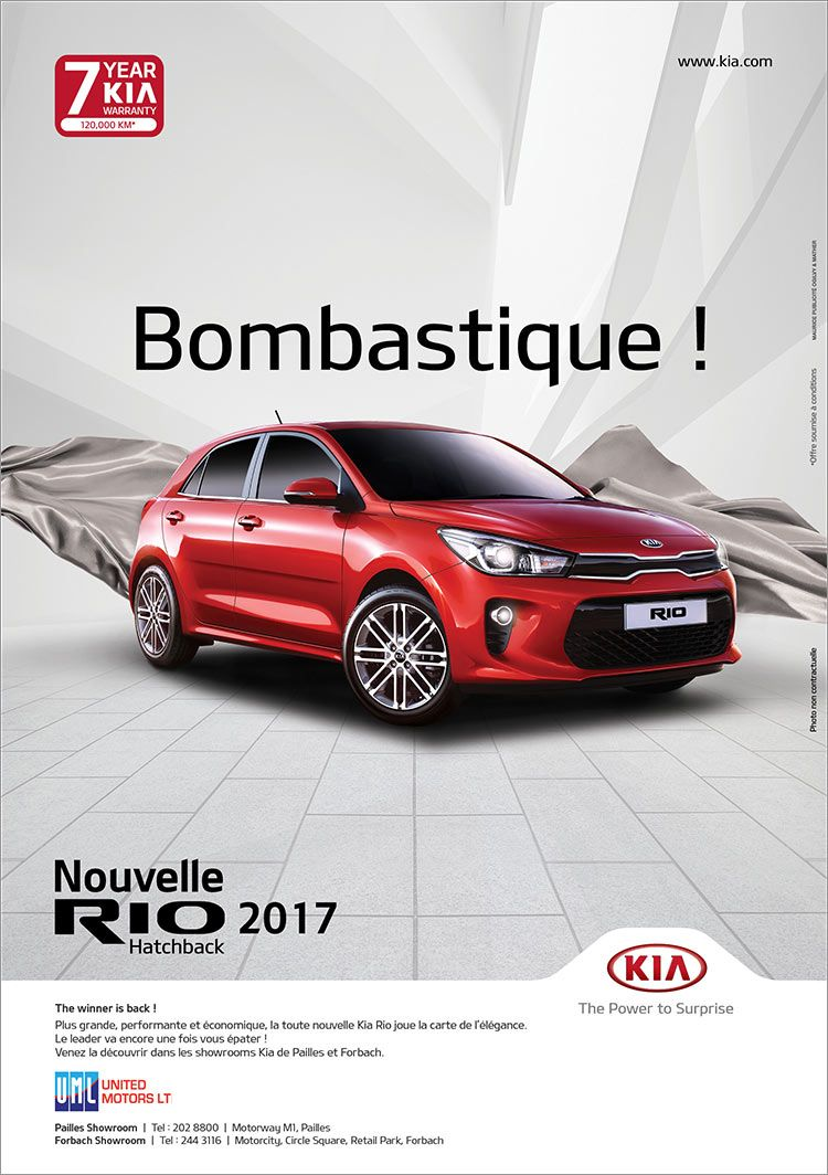 Kia Mauritius La Nouvelle Kia Rio Bombastique Tel 202 8800