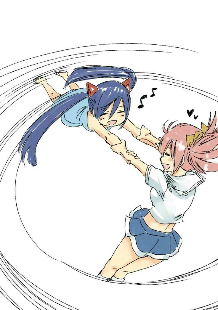 Wendy y Cheria 💟💟 | Anime yugioh, Anime w, Chibi