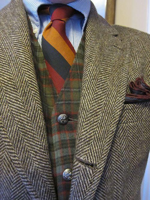 Thesuitroom Tweed Worsted Wool Silk Mens Outfits Well Dressed Men Menswear