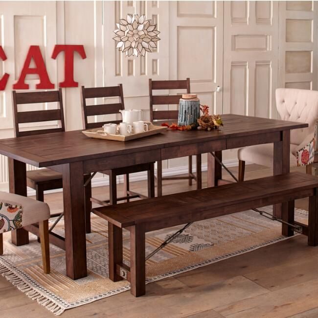 Wood Garner Extension Dining Table Extension Dining Table World Market Dining Chairs Elegant Dining Room