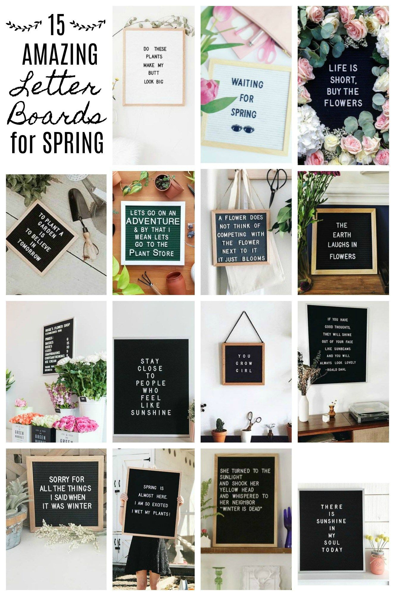 15 Amazing Letter Board Ideas for Spring   Farmhouse Blooms