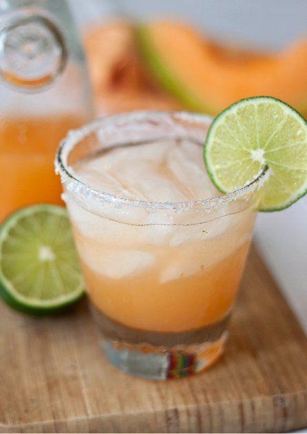 Cantaloupe Margaritas...gonna muddle jalapenos with it. mmm......