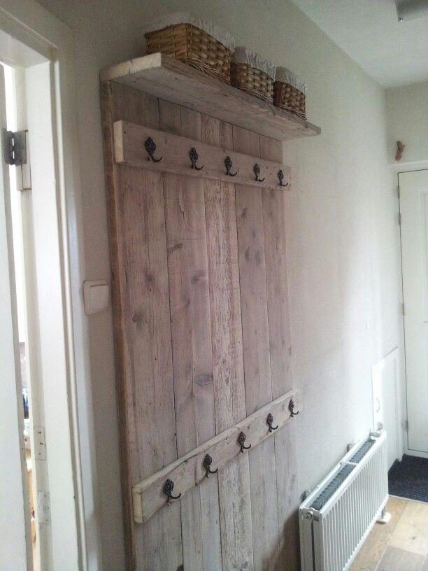 Kapstok steigerhout eigen ontwerp meubels pinterest - Selfmade wohnideen ...