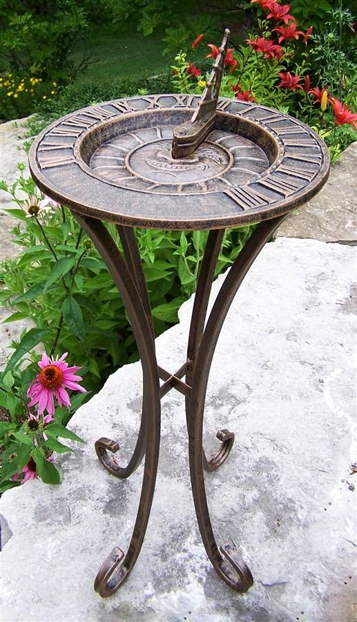 Sun God Sun Dial in Antique Bronze - Feathers  perfect size