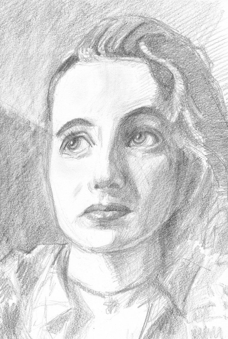 """""""Wendy"""" #RiseDraw for #SktchyApp. Trying to capture that Rembrandt triangle with good old fashioned graphite on paper. #drawing #pen ..."""